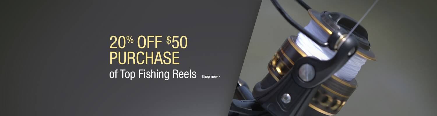 2017 spring promo on top fishing reels