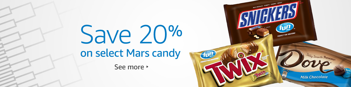 20% off promo coupon on select Mars chocolate