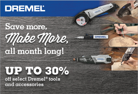 Up to 30 % off Dremel tools