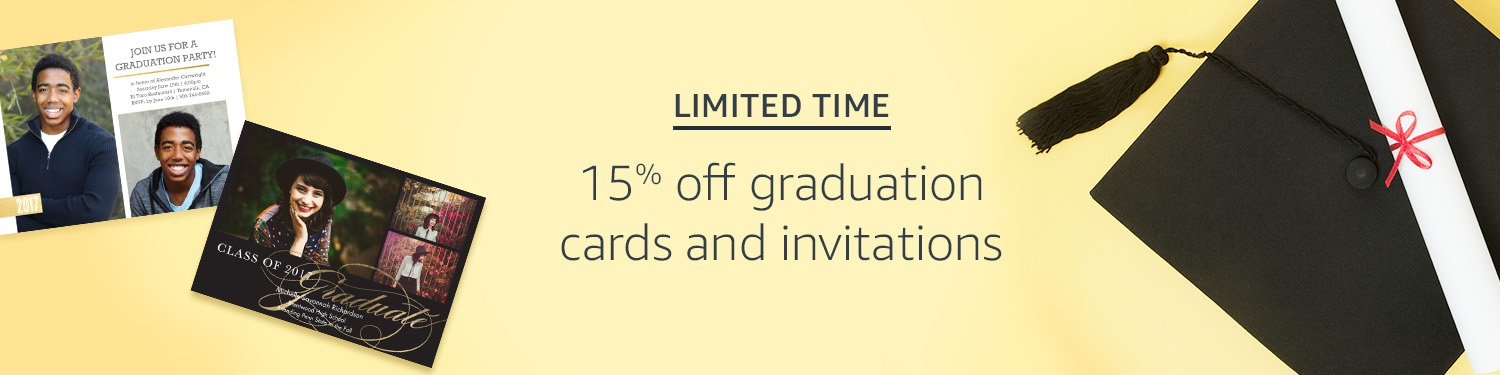 graduation cards & invitations promo code