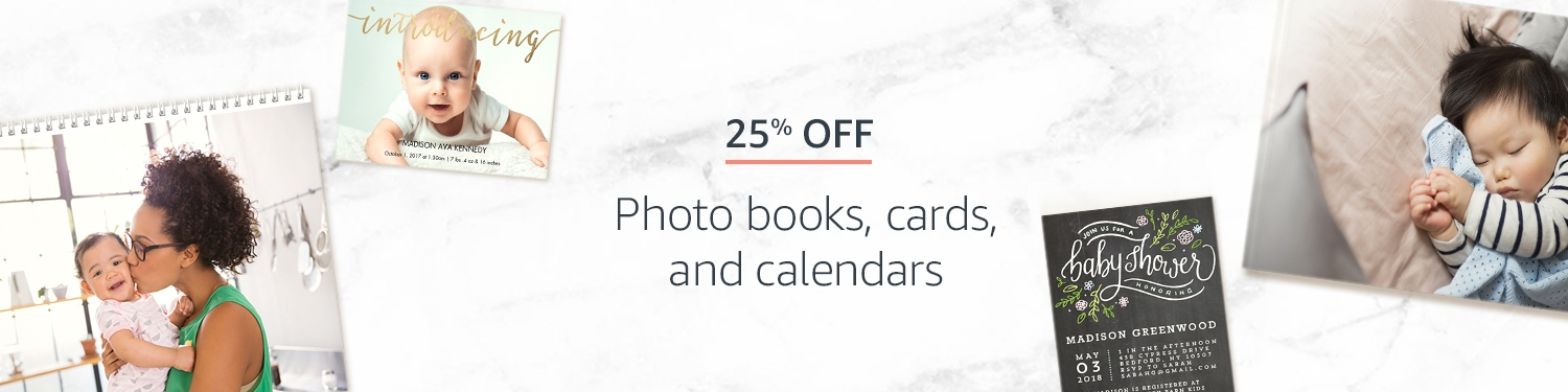promo code for 25% off photo books, cards, and calendars