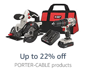 Up to 22% off Porter-Cable products