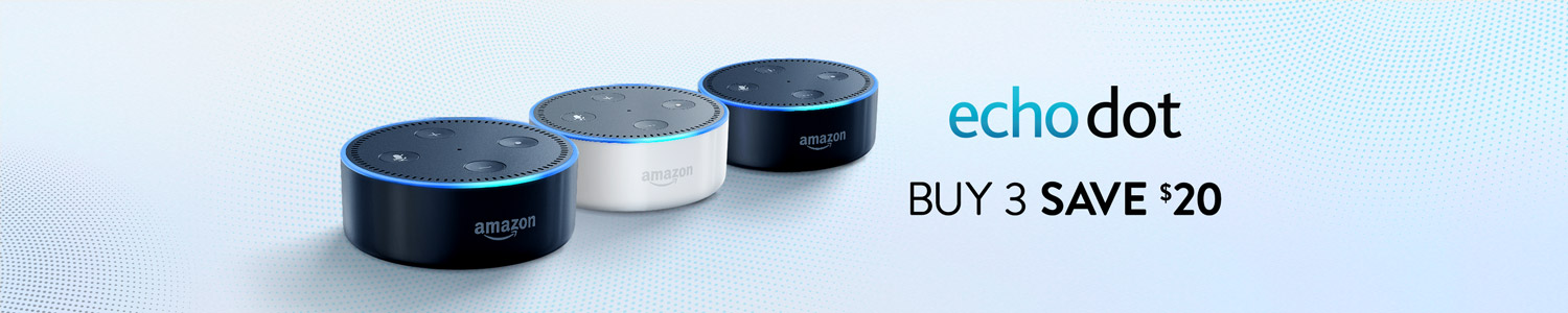 Echo Dot Buy 3 save .00
