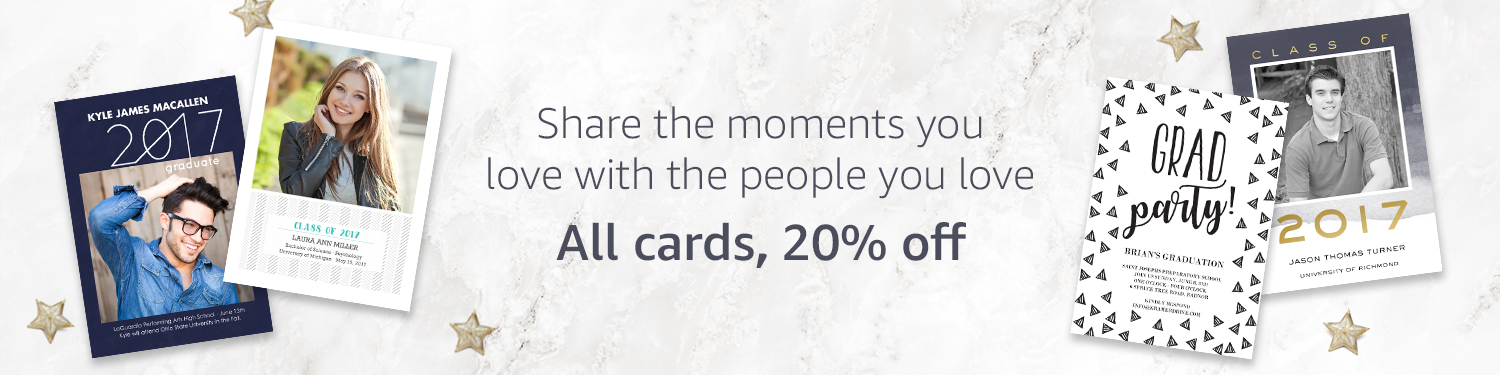 All Amazon Prints cards, 20% off.